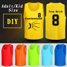 c5eb9d25f85d 5 Pieces 4 sizes Adult Kid Basketball Soccer Training Vest Grouping against vest  jerseys Blank DIY sleeveless vests team Sports