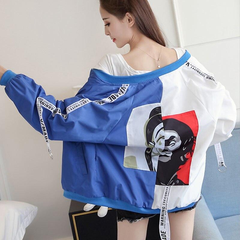 2019 New Fashion Thin Girl Windbreaker Outwear Bomber Female Baseball Women Men Coat   Jackets   Women Women's   Basic     Jacket