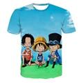 Прямая поставка смешно команды цельный футболки аниме герои луффи / зоро 3D майка мужчины женщины лето свободного покроя топы