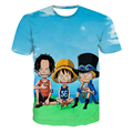 Drop Ship Funny Team One Piece t shirts Anime Heroes Luffy/Zoro 3D t shirt Men Women Summer Casual Tee Shirts Tops
