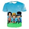 Navio da gota equipe engraçado de uma peça camisas de t Anime heróis Luffy / Zoro 3D t camisa das mulheres dos homens verão t ocasional Shirts Tops