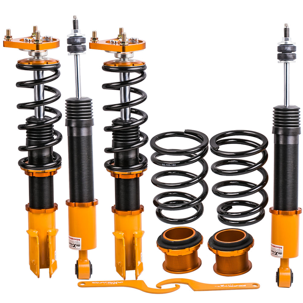 Coilovers Suspension Kits for Ford Mustang 4th 94 04 24 Ways Adjust Damper 1994 1995 1996 1997 2004 Coilover Spring Dampering
