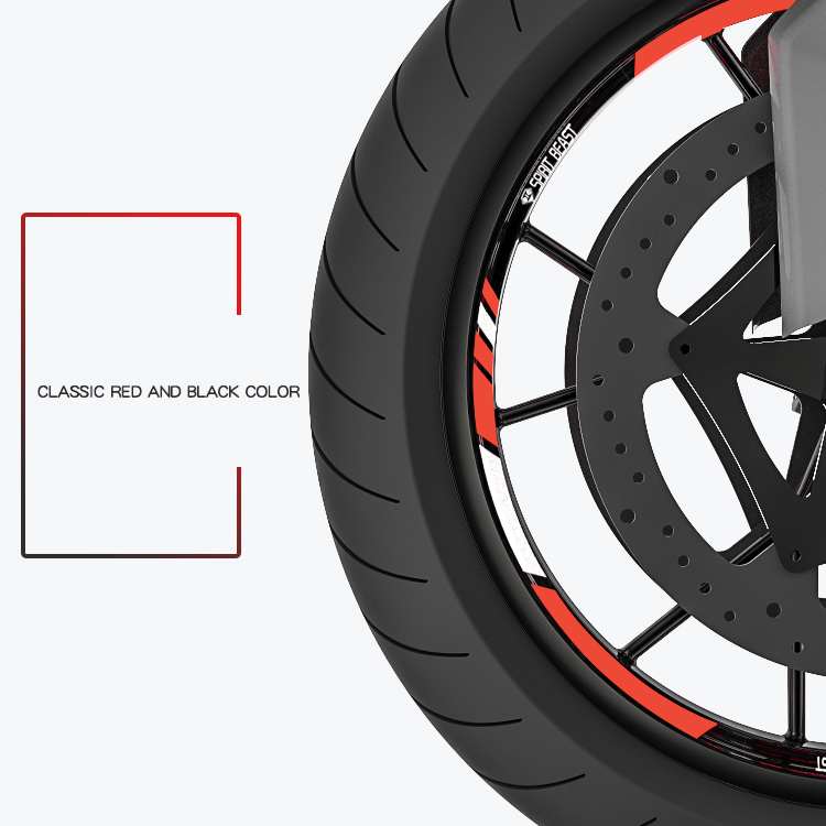 Motorcycle Tyre Decoration Stickers Reflective Motocross  Wheels 10 Inch 18 Inch Motor Rims Stickers Car-styling Free Shipping