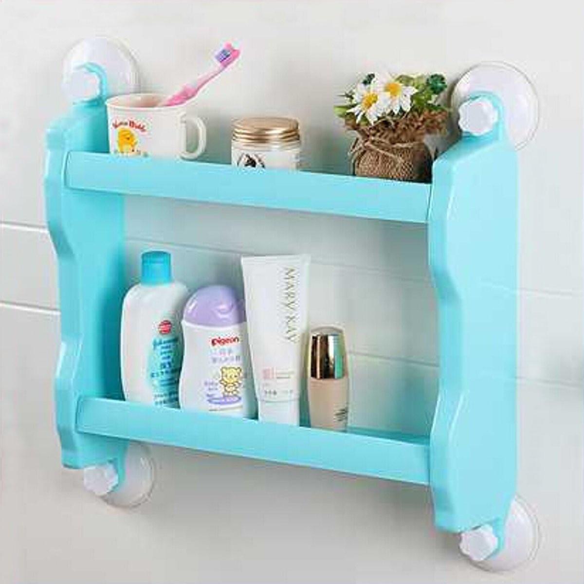 Wall Kitchen Spice Caster Holder Bathroom Sundries Storage Shelf ...