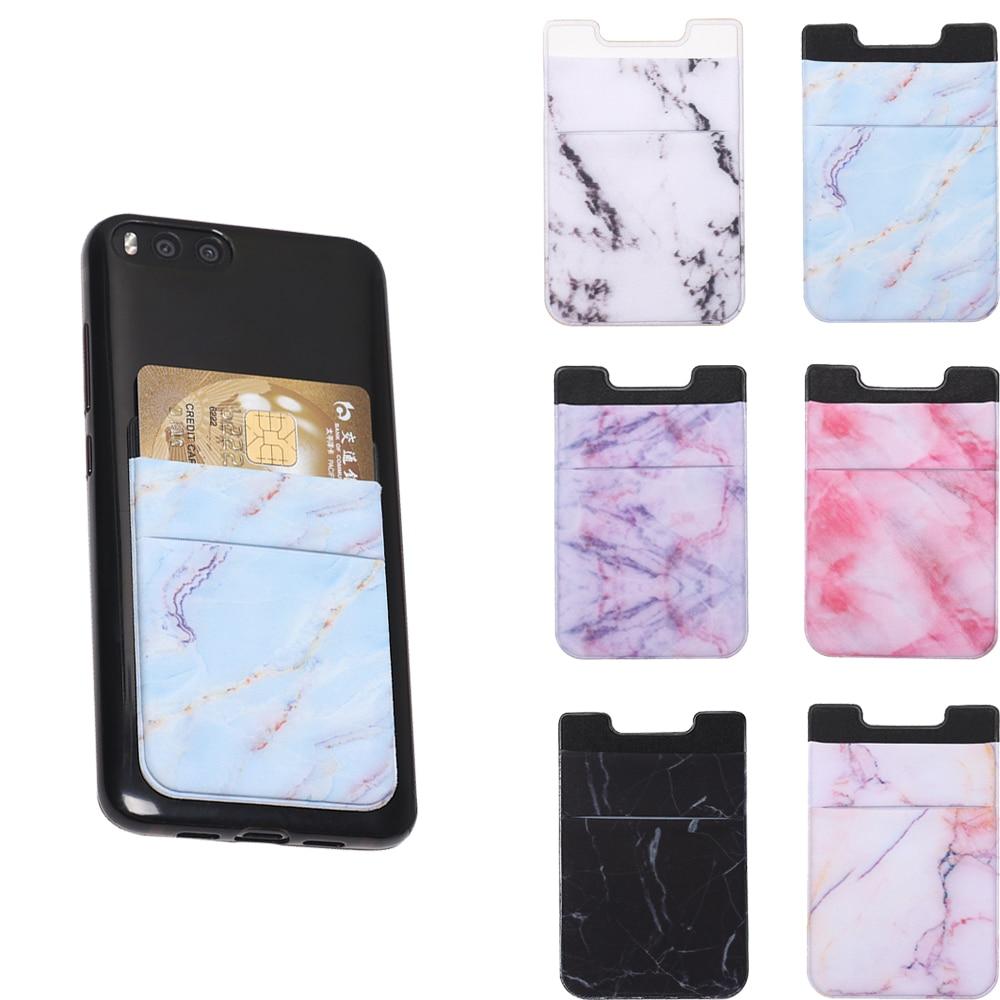 Elastic Mobile Phone Wallet Credit ID Card Holder Adhesive Pocket Sticker Lycra Pocket Card Holder Universal Cellphone Accessory
