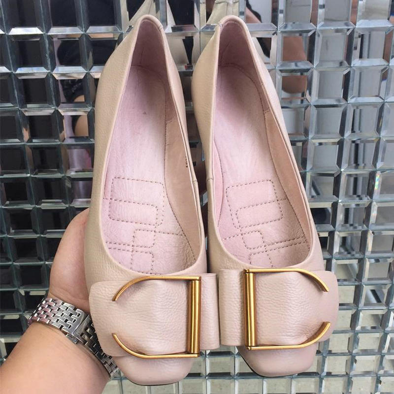 Ballerines Dame Véritable apricot Carré Femmes Cuir En Bout Pour Abricot Black Noir 2018 Mocassins Taille Plat Nouvelle Arrivée Chaussures Plus EqwxaqHB0A