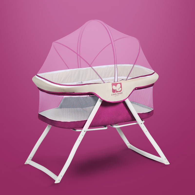 Cribs Elegant-free installation baby bed multi-function game beds baby foldable portable travel cradle bed