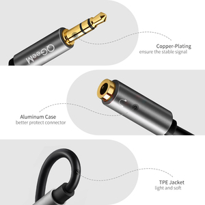 Image 4 - QGEEM Headphone Splitter Audio Cable 3.5mm Male to 2 Female Jack 3.5mm Splitter Adapter Aux Cable for iPhone Samsung MP3 Playe