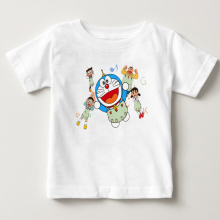 Japanese Anime T-shirt 2018 New Doraemon Summer Short-sleeved A Dream Boy Top 2-13 Years Old Free Shipping
