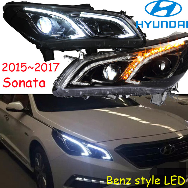 Car Styling Sonata Headlight 2017 Free Ship Fog Led 2ps 2pcs Aozoom Ballast Head Light Veracrus