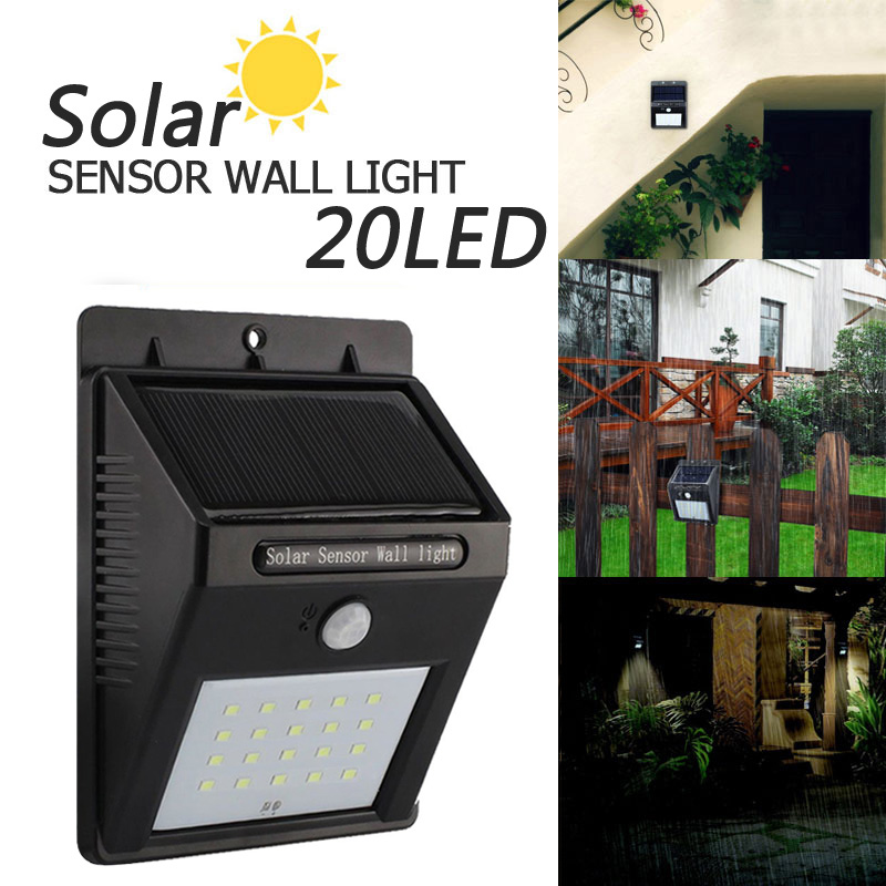 Outdoor Waterproof LED Solar Light 8/12/20/38 Motion Sensor Wireless Solar Power Lamp Garden Wall Yard Deck Security Night Light
