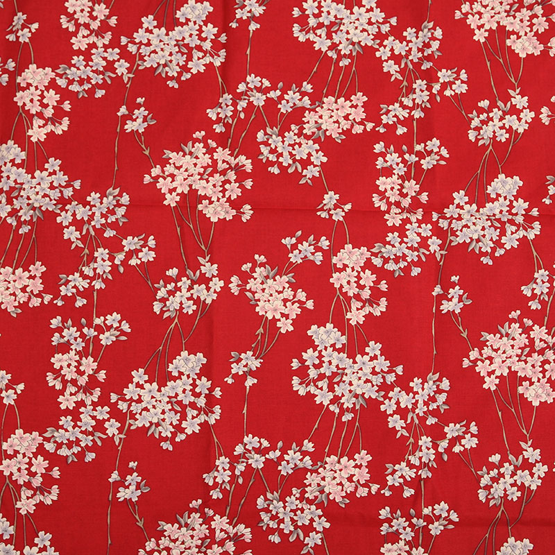 Cherry Blossom Sakura Pattern Fabric Retro Style Fabric Calico Printed Cotton Fabric For Diy Bag 003 1 Order50cm140cm In Fabric From Home Garden On