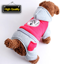 New Cotton Pet Cat Dog Costume Warm Winter Dogs Clothes Hoodie Coat Cute Jumpsuit Four Leg Clothing