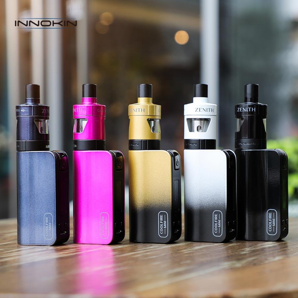 Original Innokin CoolFire Mini Zenith D22 Vape Kit 2 ml réservoir Vape atomiseur 1300 mah intégré batterie Mod E Cigarette vaporisateur
