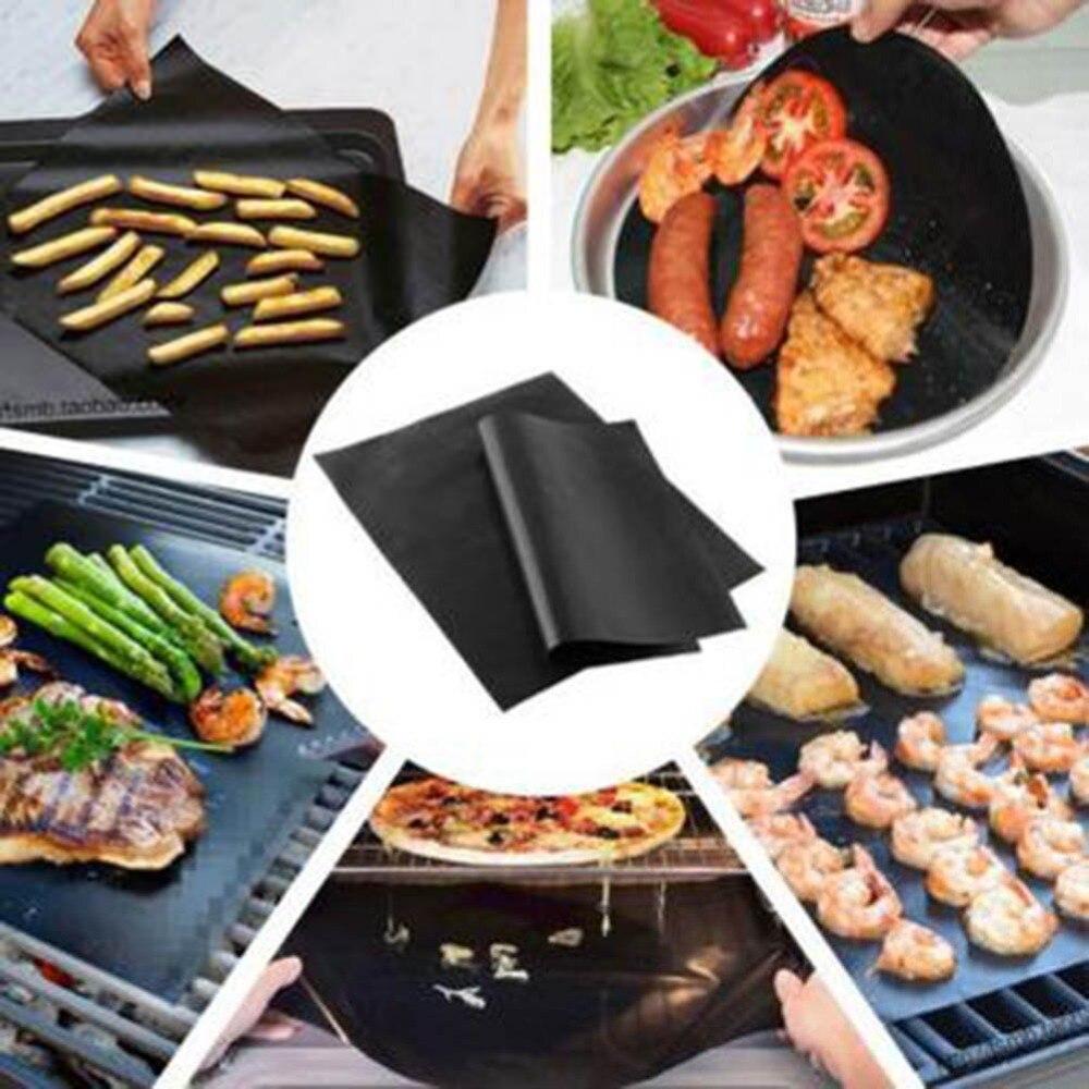 Meijuner BBQ Grill Mat Reusable Cooking Sheet Cooking Tool High Temperature BBQ Mat Non-stick Outdoor Teflon For Home Restaurant