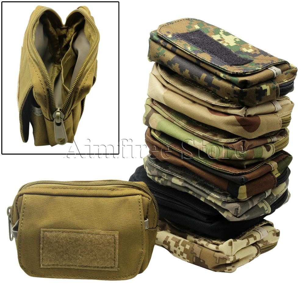 Travel Military Mini Waist Bag Army Molle Pocket Pouch Utility Belt Pouch Mess Bag for Outdoor Sports airsoftpeak military tactical waist hunting bags 1000d outdoor multifunctional edc molle bag durable belt pouch magazine pocket