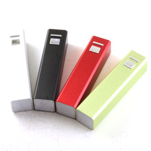 2600mAh mini lipstick emergency mobile power bank For Android xiaomi Samsung mobile phone watch USB fan Charging charger
