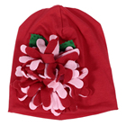 1pcs Baby Newborn Boy Girl Red Hat Cap with Cute Flower (Red)