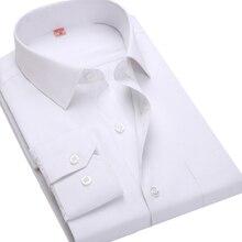 4XL 5XL 6XL 7XL 8XL большой размер мужские деловые повседневные футболки с длинными рукавами белого и синего цвета черный полосатый мужской социальной рубашка плюс