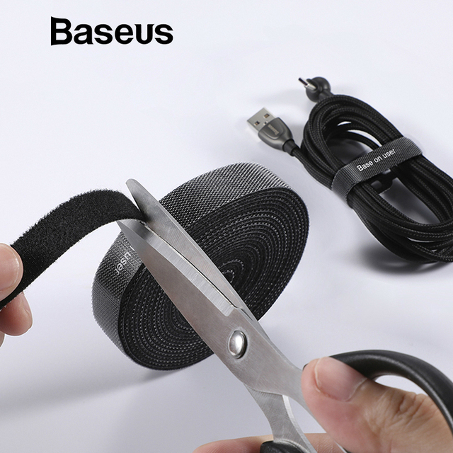 Baseus כבל ארגונית USB כבל וינדר עבור iPhone ברקים/מיקרו Usb/סוג c משלוח אורך כבל קליפ משרד ניהול שולחן עבודה
