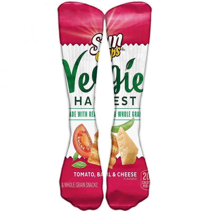 1 คู่ตลก Unisex ผู้ชาย Art ถุงเท้าผู้หญิงพิมพ์มันฝรั่งเข่าถุงเท้าสูงฝ้าย art ถุงเท้ายาวสำหรับชาย 8S-D15