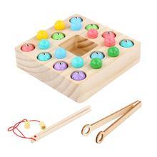 Детские Игрушки для раннего развития детей клип бисером Рыбалка обучение по головоломкам игрушка набор деревянных игрушек Семья активная игра реквизит для рыбной ловли