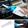 Mini Portable Car Vehicle Auto Charger Wet Dry Handheld Car Use Plug Vacuum Cleaner Blue White 12V