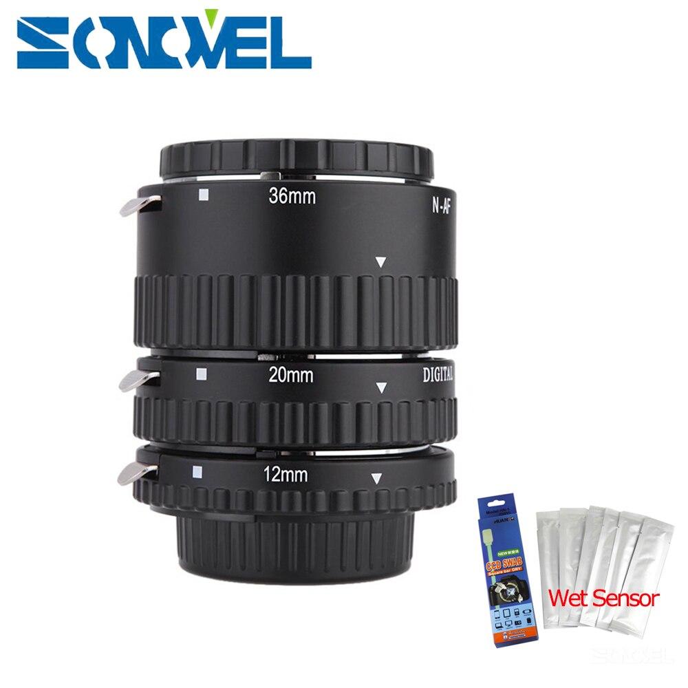 Meike Auto Focus Tube Extension Macro Set Anneau N-AF1-B pour Nikon D7500 D7200 D5600 D5500 D5300 D3400 D3300 D850 D810a D750 D5 D4