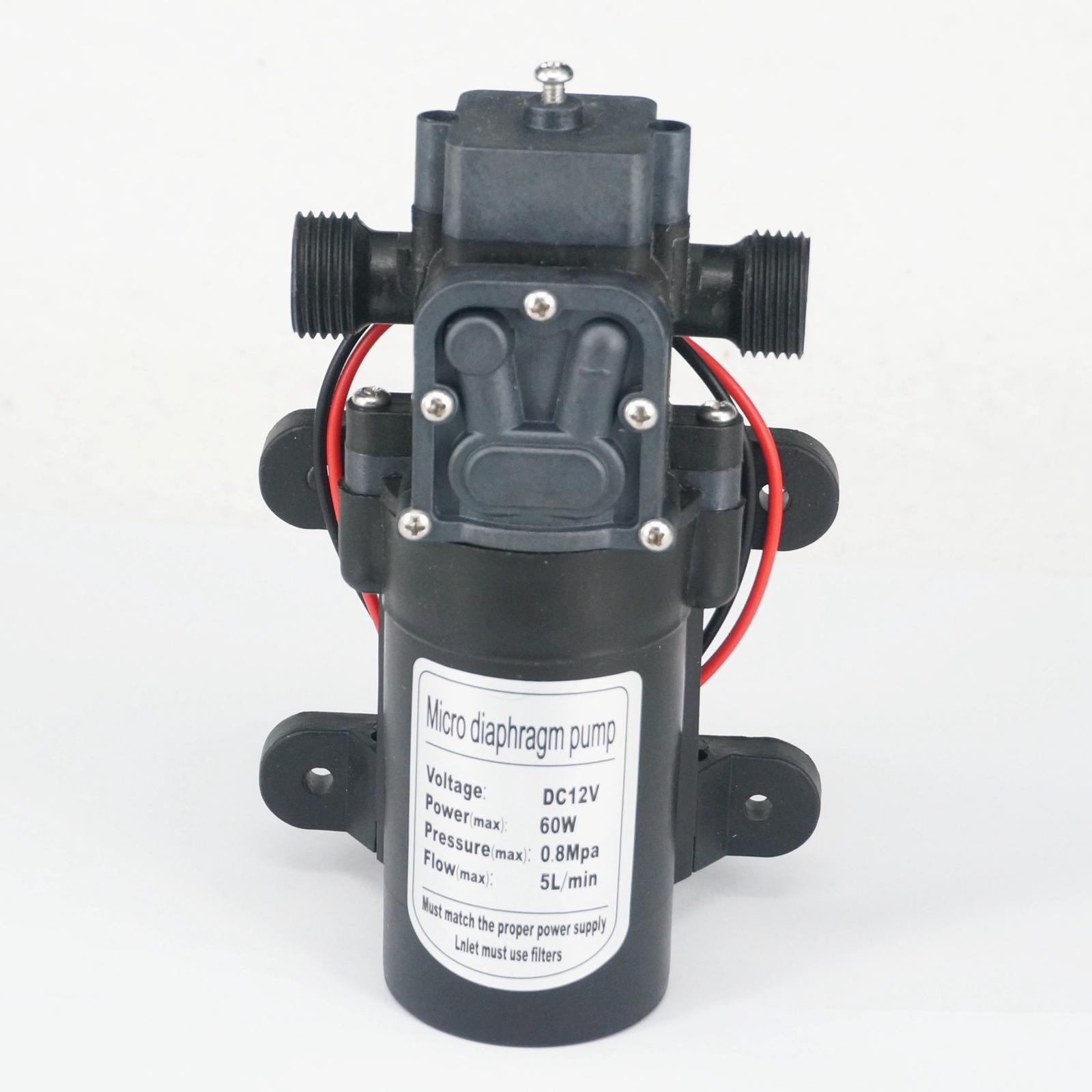 1/2 BSP Male DC 12V/24V 60W Electric Diaphragm Pump self-priming booster Backflow Control for Home garden Car washer 300L/H