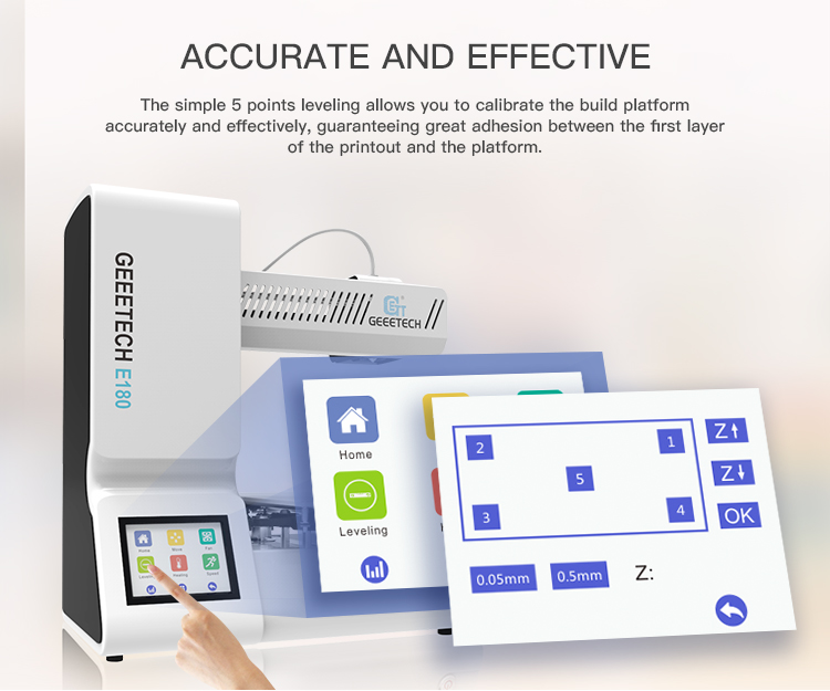 Geeetech E180 3D Printer With Full Colour Touch Screen And Wifi Connectivity 18