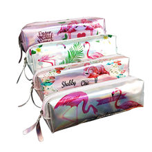 Laser Flamingos Earphone Wire Box Data Line Cables Storage Box Case Container Coin Headphone Protective Box Case Container(China)