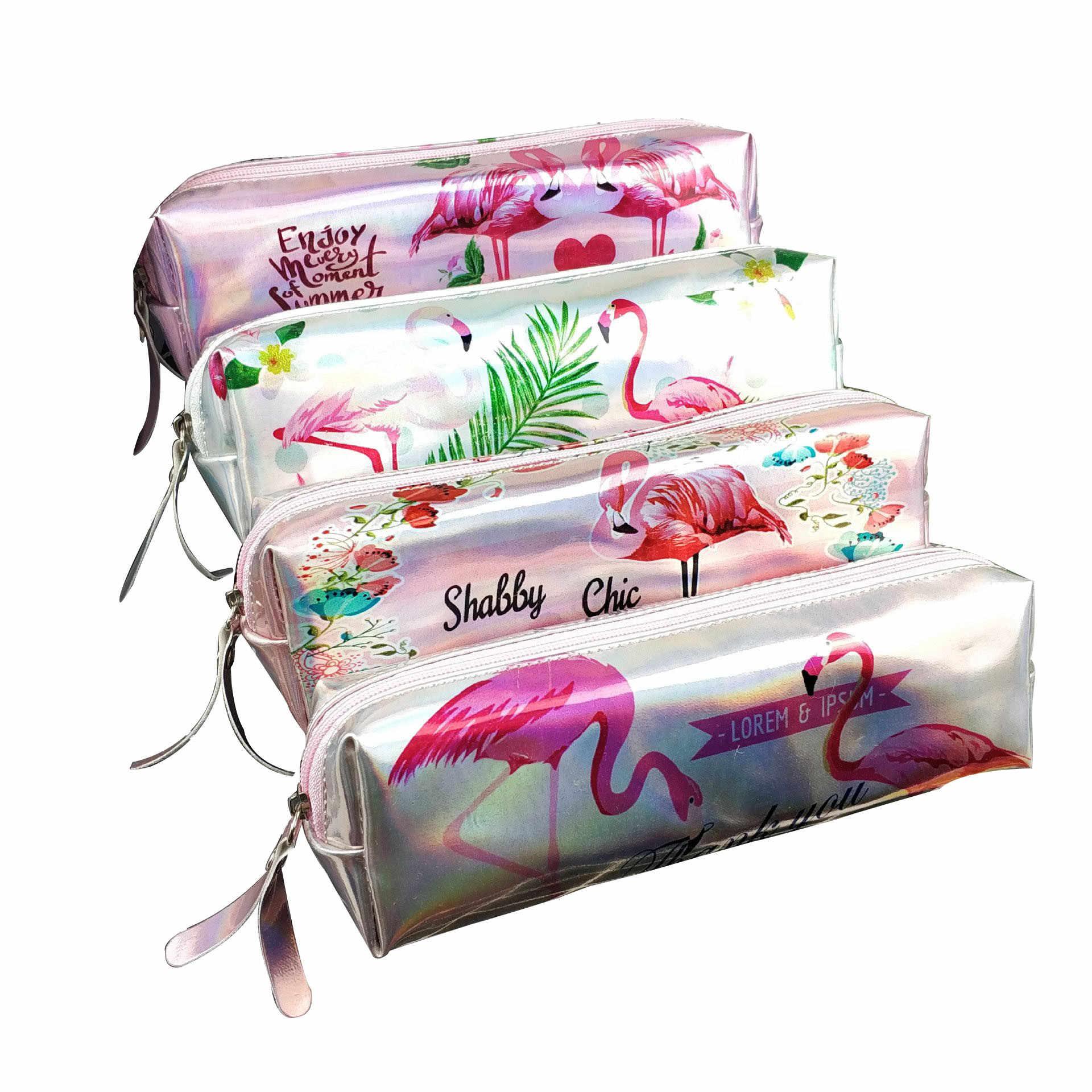 Laserowe flamingi podróży torba do przechowywania przenośny cyfrowy gadżet USB ładowarka przewody kosmetyczne etui na zamek błyskawiczny akcesoria akcesoria