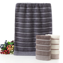 bath towel thicked pure cotton jacquard solid