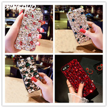 XINGDUO Jewelled for iphone X XS XR MAX 6 6S 7 8 Plus Luxury Glitter Back Cover Crystal Bling Diamond rhinestone soft case