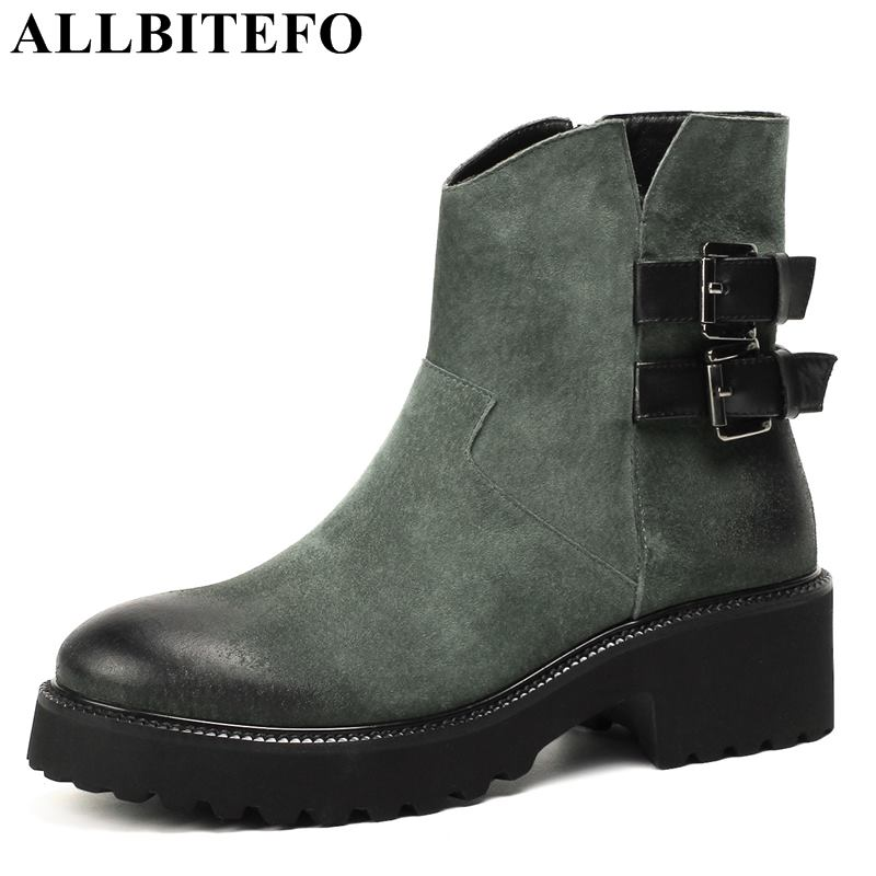 allbitefo brand genuine leather super high heel ankle women boots fashion sexy ladies girls martin boots motocycle boots shoes ALLBITEFO fashion brand genuine leather thick heel women boots high heels ankle boots martin boots girls shoes winter boots