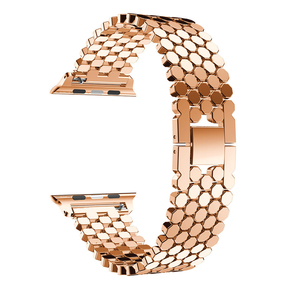 Luxury Stainless Steel Link Bracelet Band for Apple Watch Series 2 3 4 5  Iwatch Strap 38/42mm with Adapter