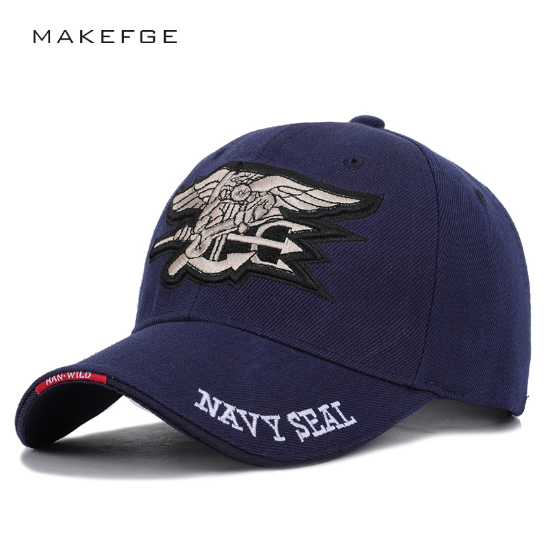 Letter NAVY SEAL Embroidered   Baseball     Caps   Unisex Adjustable High Quality Outdoor Sun Hat Dad Hats Truck Driver   Cap   streetwear