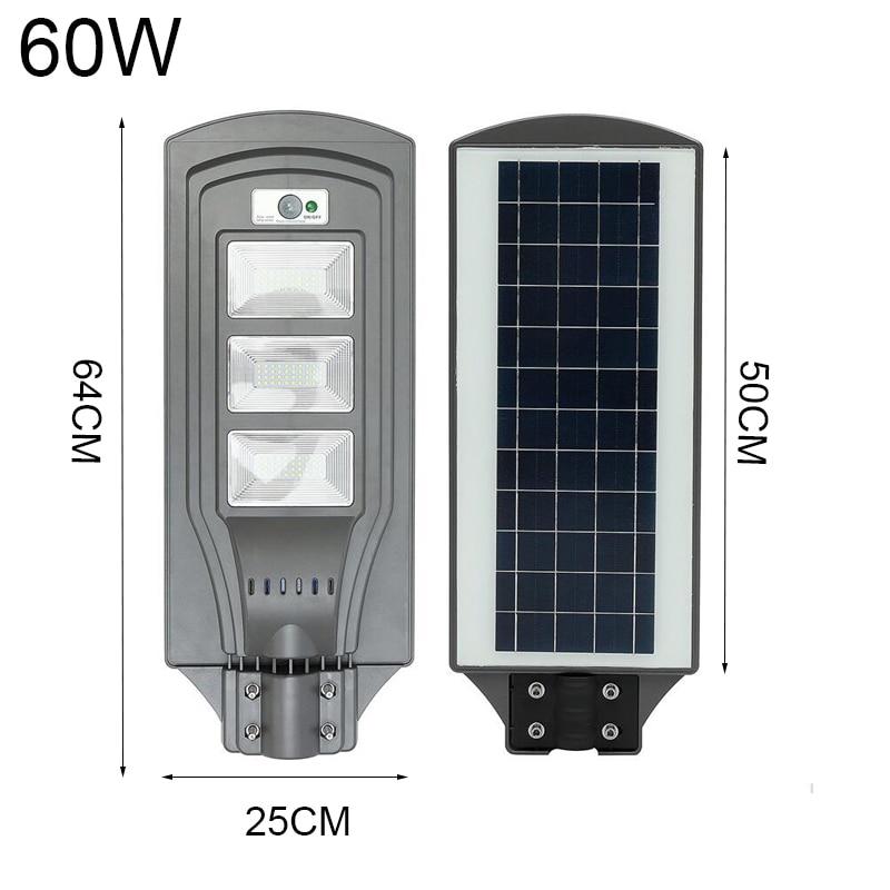 LED Solar Street Light 20W40W60W Super Bright Radar Motion Sensor Waterproof Security Lamp for Garden Yard Wall Light (1)