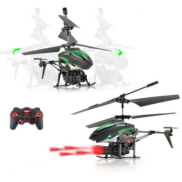 LeadingStar WLToys V398 Cool Missile Launching 35CH RC Remote Control Helicopter With Gyro Quadcopter Christmas
