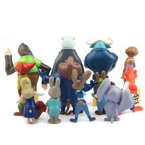 Image 5 - ดิสนีย์ภาพยนตร์Zootopiaการ์ตูนAiunciของเล่น12ชิ้น/ล็อต4 ~ 7เซนติเมตรนิคสุนัขจิ้งจอกจูดี้Zootropolisยูโทเปียสัตว์พีวีซีดำเนินการของเล่นรูปตุ๊กตา