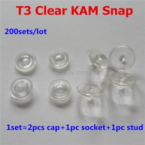 200 conjuntos limpar size16 t3 kam snaps botoes de resina plastica transparente snaps fixadores para
