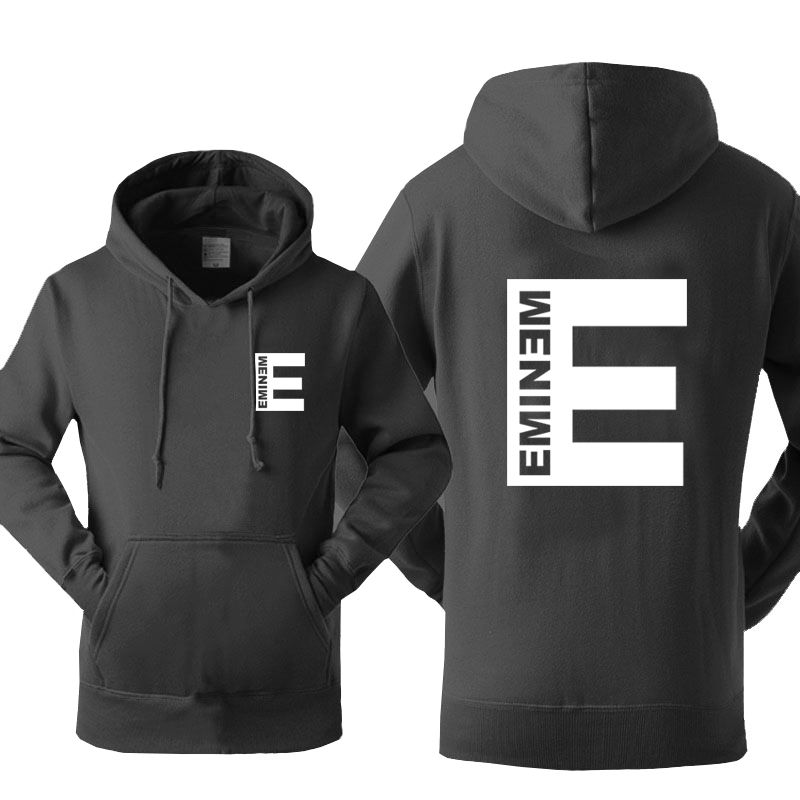 Eminem Hoodie Men Punk Rock Hooded Sweatshirt 2019 New Spring Winter Fleece Hip Hop Streetwear Cool Print Hipster Sportswear