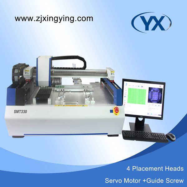 Welding Nozzles 4 Head Led Light Production Line With Servo Motor Smt Pick And Place Machine Smt330 Pick And Place Smt Desktop Low Cost