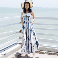 2017 Special Offer Promotion Seaside Resort Beach Bohemia Fringe Skirt Waist Wide Leg Pants Female Dress