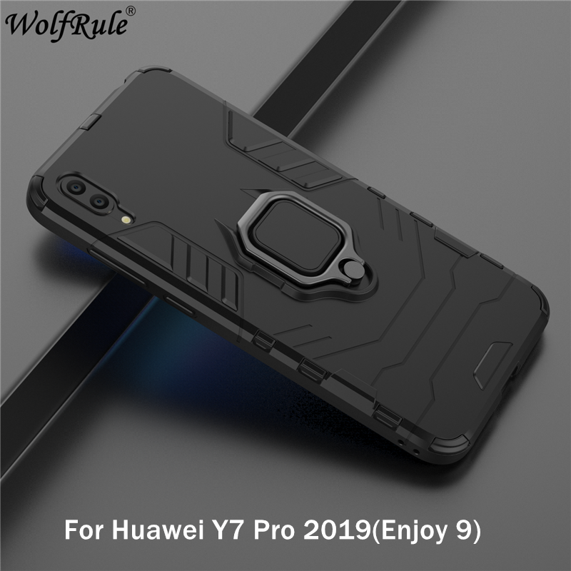 Holder Magnetic Case For Huawei Y7 Pro 2019 Cover/Huawei Y7 Pro 2019 Durable Metal Ring Stand Cover For Huawei Y7 Pro 2019 Case