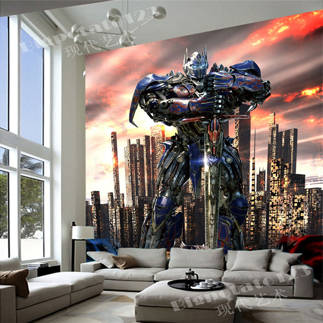 Awesome Transformers Wallpaper Optimus Prime Photo Wallpaper Custom 3D Wall Murals  Boy Kid Interior Bedroom Nursery Room