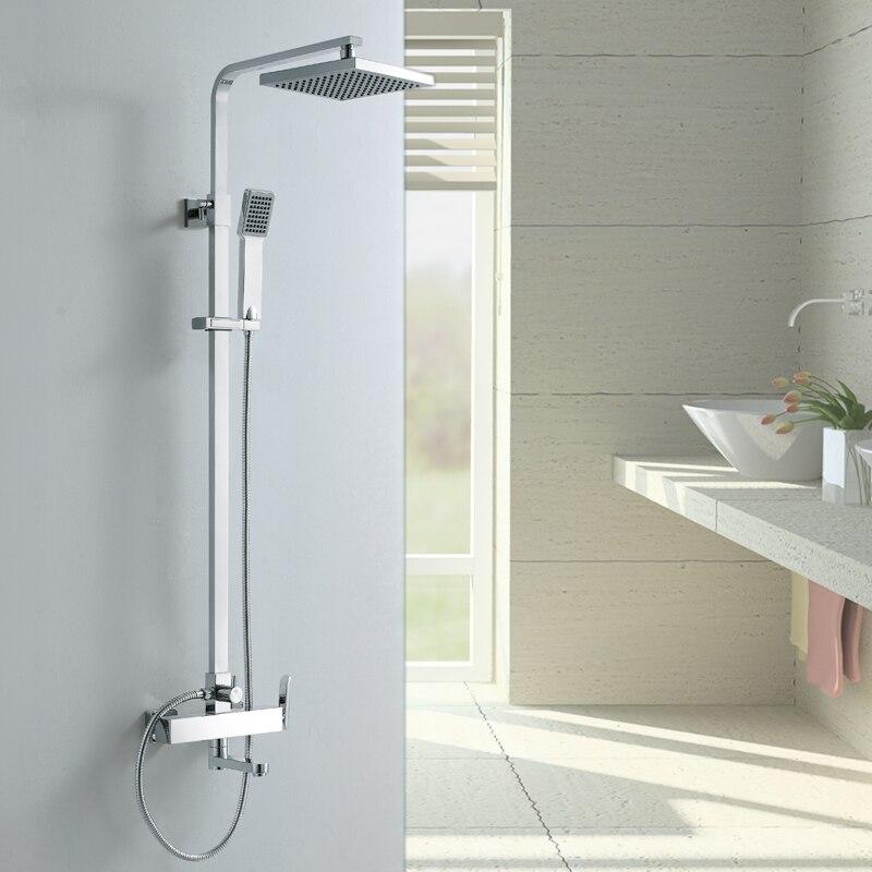 Одежда высшего качества латунь расширяемый осадков ванной железнодорожных Душ смеситель с раздвижными бар Ванная комната смеситель для ду