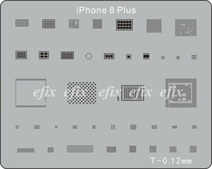 Image 3 - 22 Pcs/lot IC Chip BGA Reballing Stencil Kits Set Solder Template for iPhone XS Max XR X 8 7 6s 6 plus SE 5S iPad Motherboard