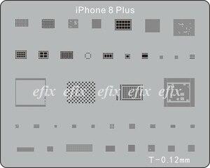 Image 3 - 22 Teile/los IC Chip BGA Reballing Schablone Kits Set Solder Vorlage für iPhone XS Max XR X 8 7 6s 6 plus SE 5S iPad Motherboard