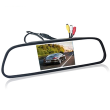 """Фотография 4.3"""" 4.3 inch TFT LCD Color Car rear view mirror monitor video DVD player car audio auto for Car Reverse camera"""